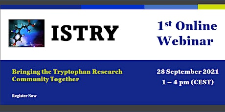 2021International Society for Tryptophan Research (ISTRY) Online Webinar tickets