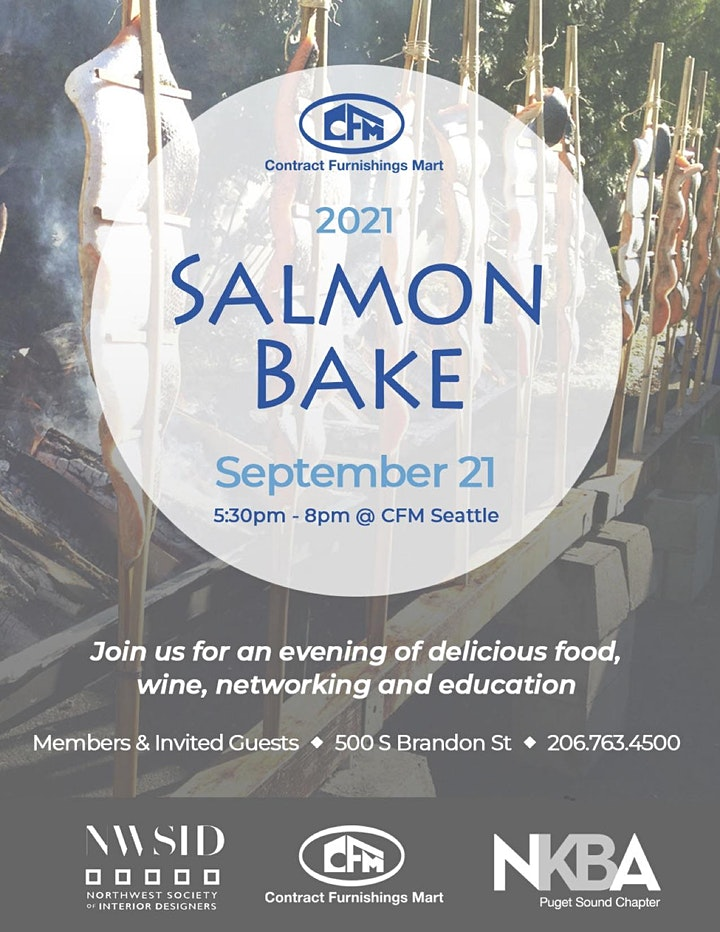 NWSID Seattle September Chapter Meeting and Salmon Bake at CFM! @ Contract Furnishings Mart