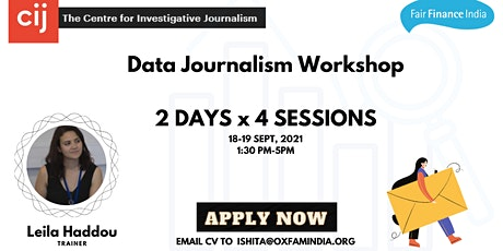 Finding Stories with Data Workshop tickets