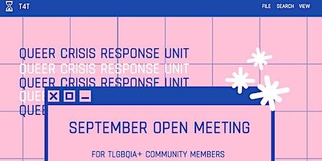 September Open Meeting tickets