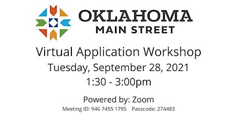 Oklahoma Main Street  Center  Virtual Application Workshop tickets