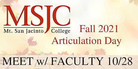 Fall 2021 Articulation Day - Faculty Collaboration 10/28/21 tickets
