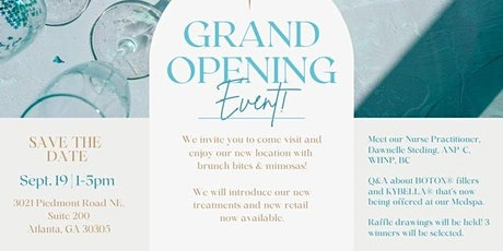 Grand Opening Event tickets