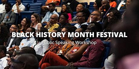 Public Speaking Workshop FT: The Greatest Black Speakers in History tickets