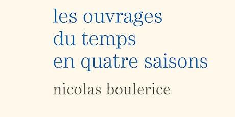 LANCEMENT DE LIVRE - NICOLAS BOULERICE billets