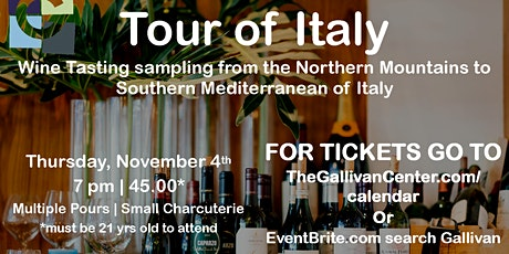 Wine Night - November  - Tour of Italy tickets