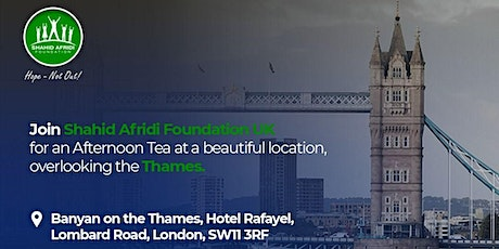 Afternoon Tea with Shahid Afridi Foundation tickets