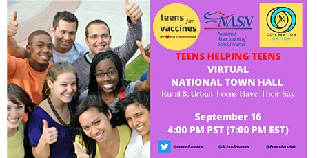 Teens Helping Teens - A National Town Hall For Rural and Urban Teens tickets