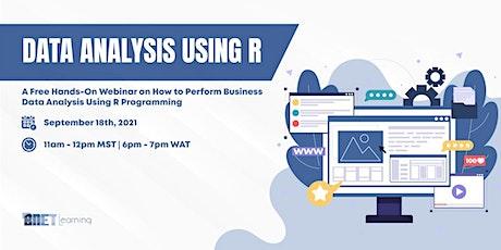 Data Analysis Using R Programming  Free Hands-On Webinar tickets
