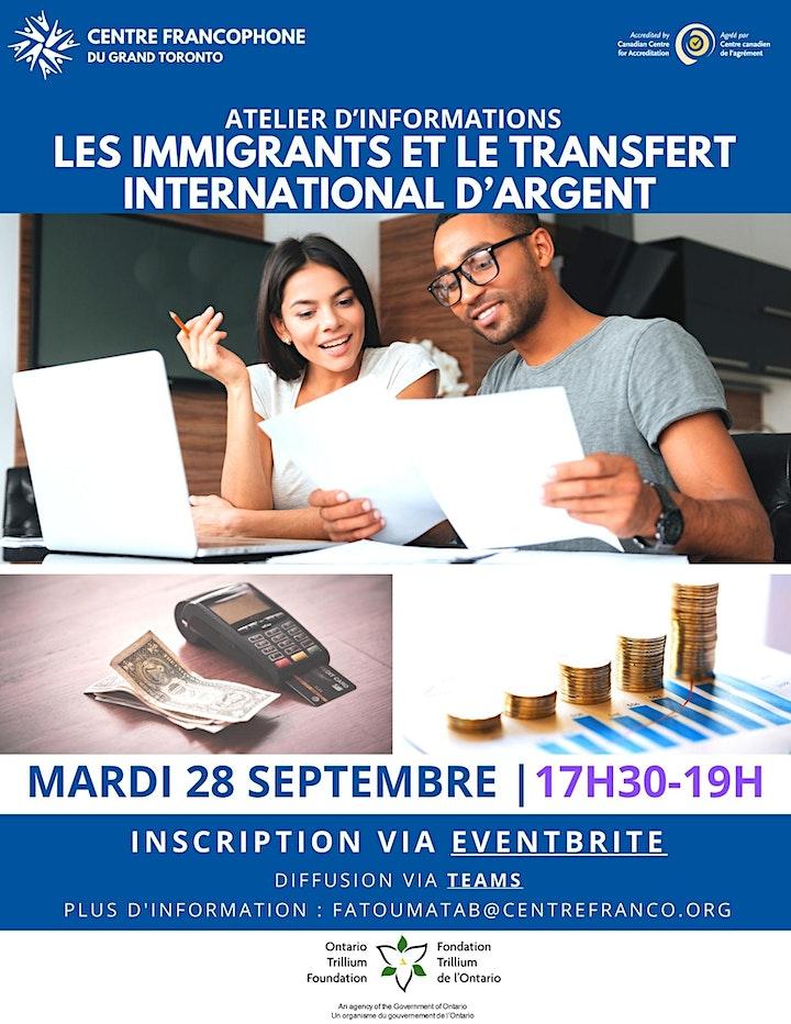 Les immigrants et le transfert international d'argent image