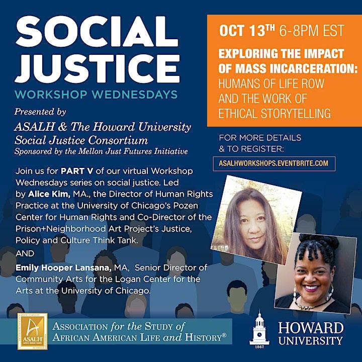 'Workshop Wednesdays' from ASALH x Howard Univ. Social Justice Consortium image