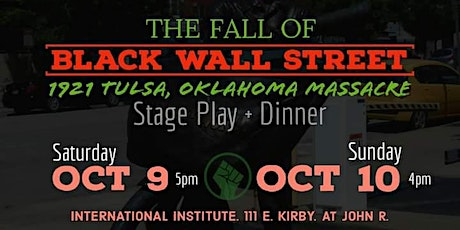 The Fall of Black Wall Street tickets