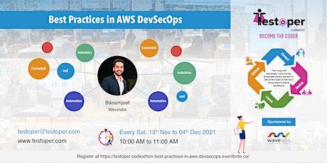 Codeathon -Best Practices in AWS  DevSecOps starts on 13 Nov 2021 entradas