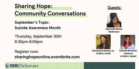 Sharing Hope: Community Conversations tickets