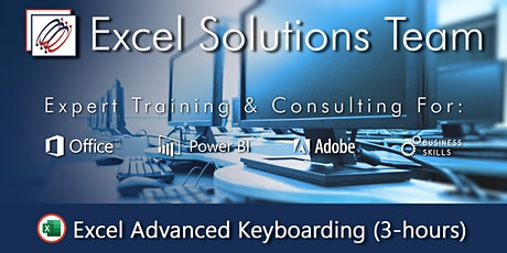 Excel Advanced Keyboarding 3-hour Webinar Tickets