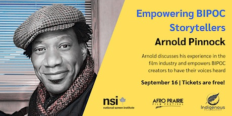 Empowering BIPOC Storytellers: A Conversation with Arnold Pinnock tickets