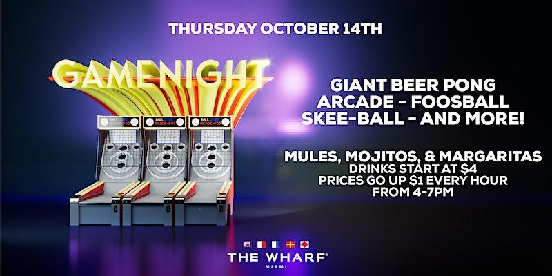 Game Night - Retro Gaming Miami - Wharf Miami