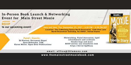 In-Person Book Launch & Networking Event for Main Street Moxie tickets