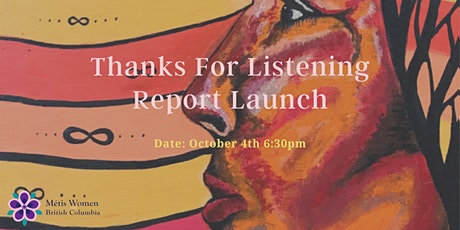 Thanks for Listening Report Launch tickets