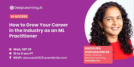 Grow Your Career in the Industry as an ML Practitioner tickets