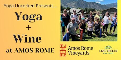 Yoga + Wine at Amos Rome Vineyards tickets