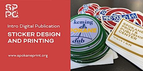 Intro DigiPub: Sticker Design and Printing tickets