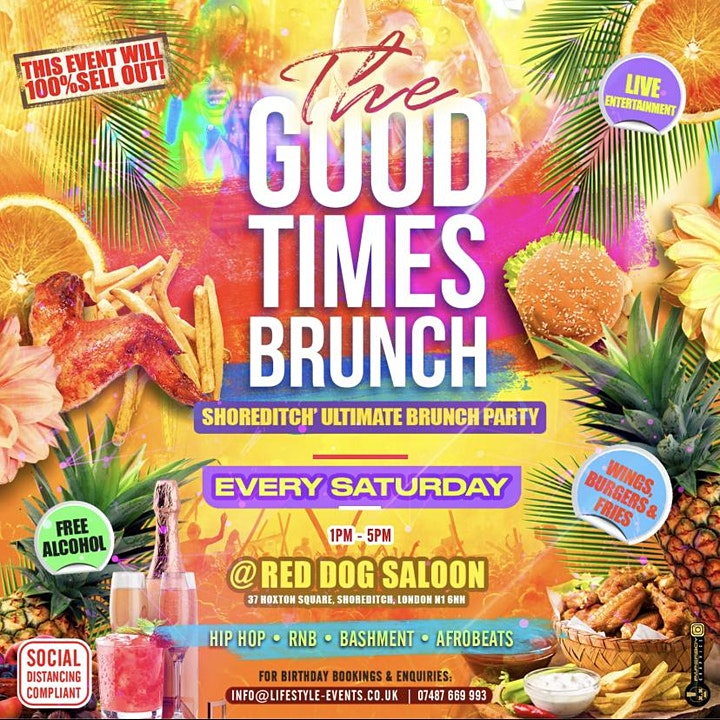 THE GOOD TIMES BRUNCH - Shoreditch's Ultimate Brunch Party image