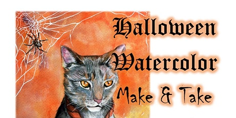 Halloween Watercolor Make and Take tickets