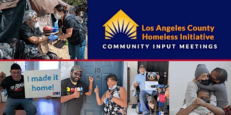 San Gabriel Valley Community Input on Homelessness tickets