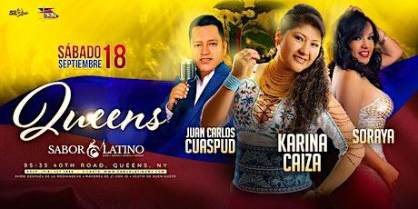 Karina Caiza junto a Soraya & Juan Carlos Cuaspud tickets