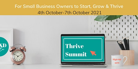 Thrive Summit for small business owners tickets