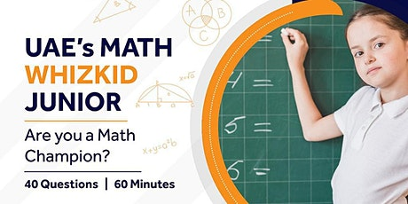 UAE Math WhizKid Junior | Free entry for 11 to 13 years tickets