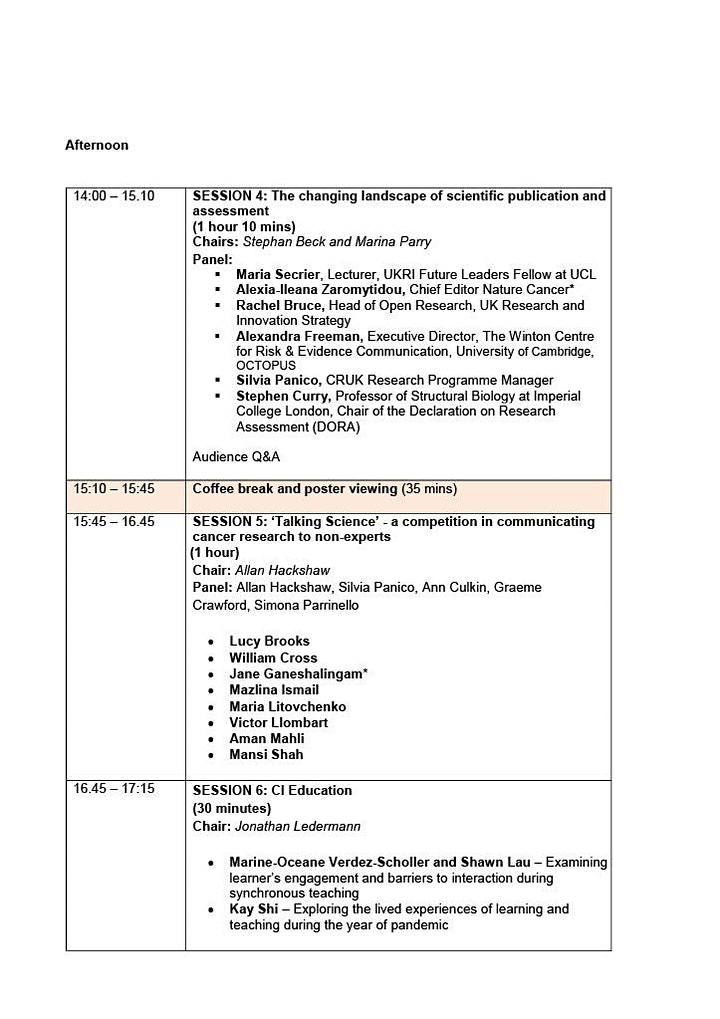 Cancer Institute  and CRUK- UCL Centre Annual Conference 2021 image