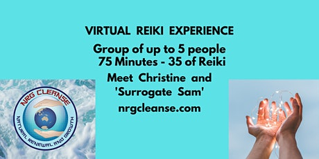 Virtual Reiki Group Event - Expect to experience 35 minutes of Reiki Energy tickets