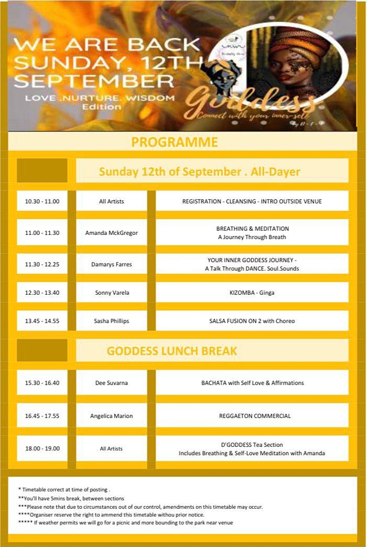 GODDESS ! All-Dayer Dance & Holistic event. Connect with your inner-self image