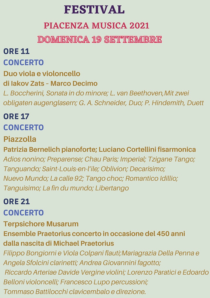 Immagine Festival Piacenza Musica 2021