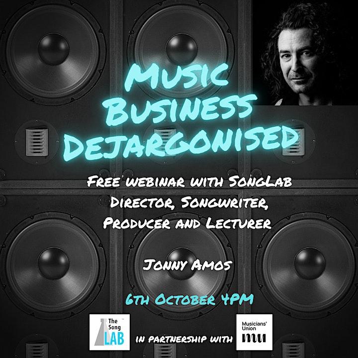 Music Business Dejargonised Webinar image