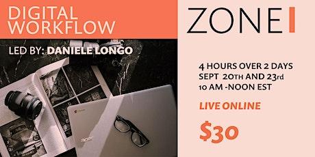 ZONE I: Digital Workflow for Photographers tickets