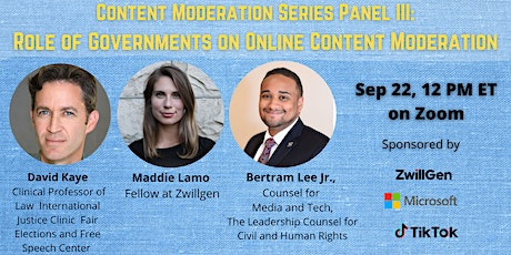 Role of Governments on Online Content Moderation tickets