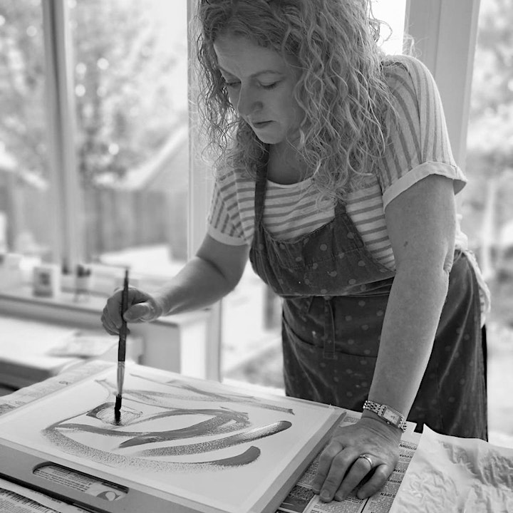 Intuitive, abstract painting workshop image