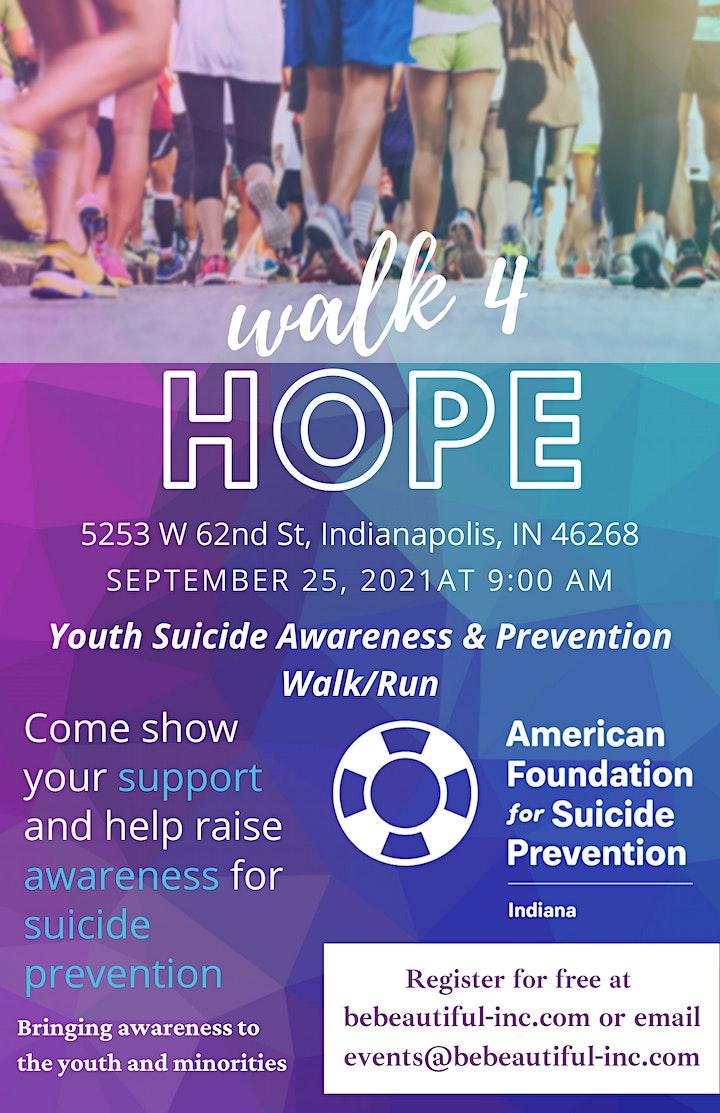 Walk4Hope Youth/Minority Suicide Awareness & Prevention Walk/Run image