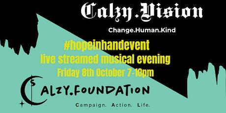 Calzy Foundation and Calzy Vision present: #HOPEINHANDEVENT boletos