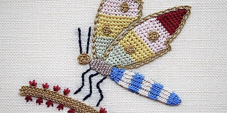 Hand Embroidery Workshop with Kate Barlow - Elizabethan Dragonfly tickets