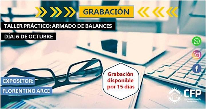 """Imagen de GRABACIÓN DE CURSO """"Armado de Balance - Taller Práctico"""""""