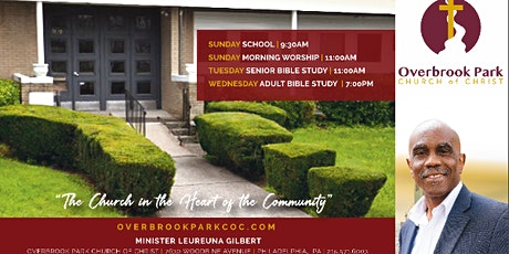 Overbrook Park Church of Christ In-Person and Virtual Worship tickets