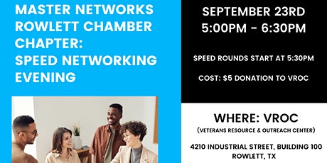 Master Networks Rowlett Chamber: Speed Networking Event tickets