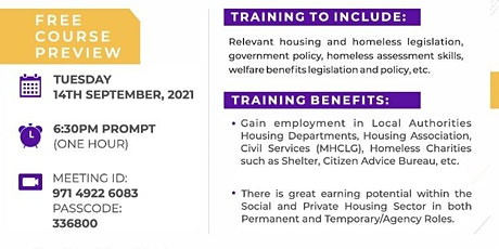 Turning Point Homeless Options Training Course Preview Session tickets