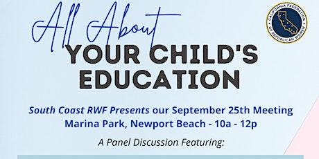 South Coast RWF September Meeting tickets