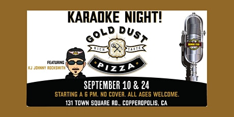 Family Karaoke at Gold Dust Pizza Copperopolis tickets