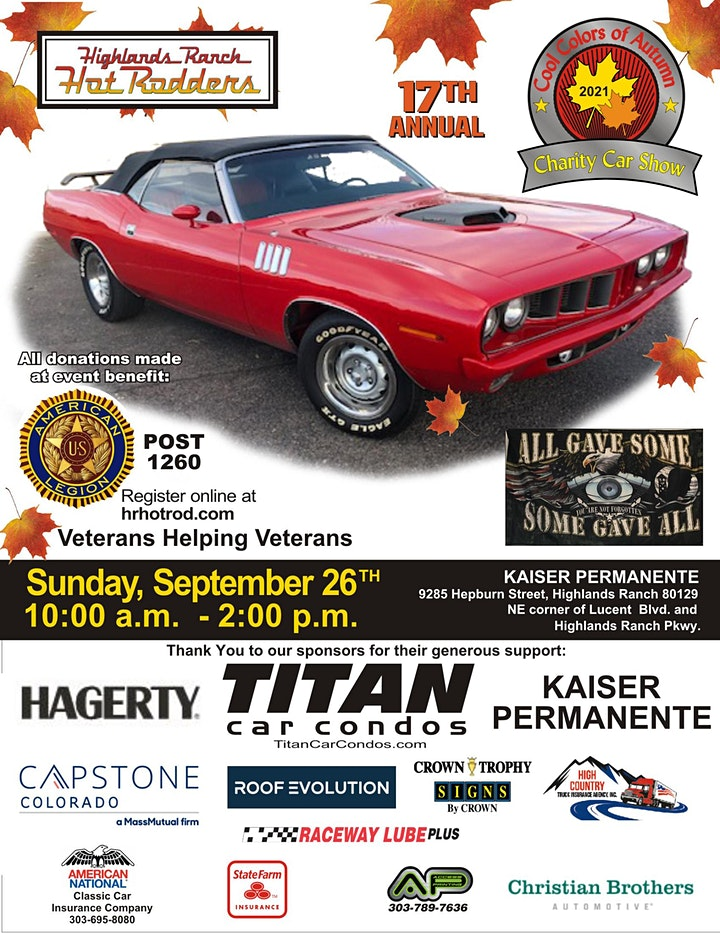 17th Annual Cool Colors of Autumn Charity Car Show image